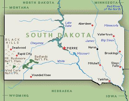 South Dakota Initiative Referendum Institute - Map of so dakota